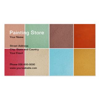 Cartão de visita de pintura da loja