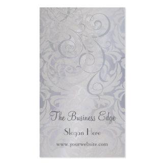 Cartão de visita de prata Rococo do vintage elegan