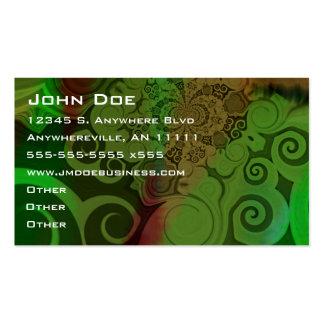 Cartão de visita de roda da arte abstracta do