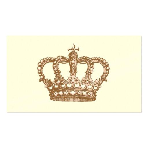 Cartão de visita de Royale da coroa