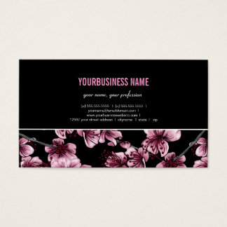 Cartão de visita de Sakura das flores de cerejeira