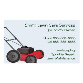 Cartão de visita de Servies da manutenção de jarda