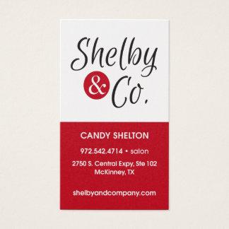 Cartão de visita de Shelton dos doces