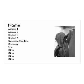 Cartão de visita de Skara, preto e branco