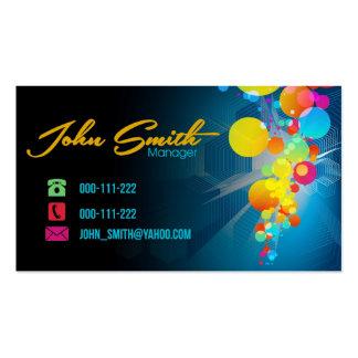 Cartão de visita de Splat do pintor