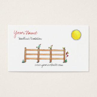 Cartão de visita de Sun do bom dia