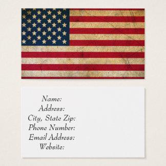 Cartão de visita de tamanho padrão de bandeira