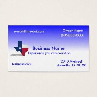 Cartão de visita de Texas