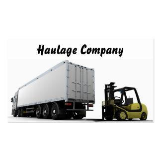 Cartão de visita de Transporte Empresa
