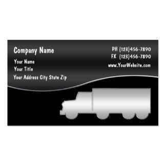 Cartão de visita de transporte por caminhão