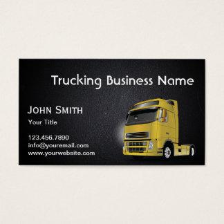 Cartão de visita de transporte por caminhão da