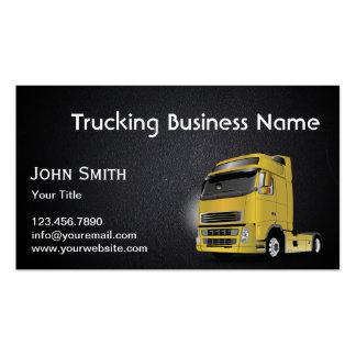Cartão de visita de transporte por caminhão da tex