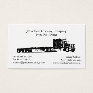 Cartão de visita de transporte por caminhão do