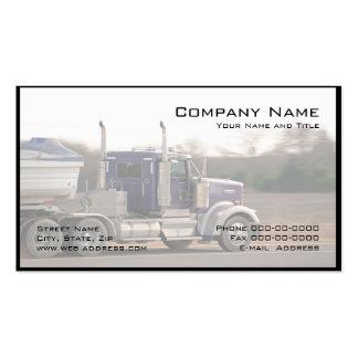 Cartão de visita de transporte por caminhão do cam