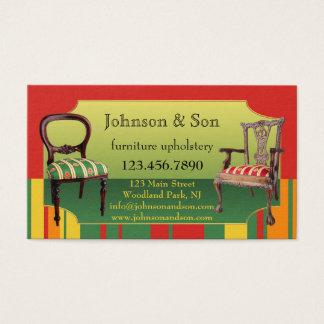 Cartão de visita de Upholstery da mobília