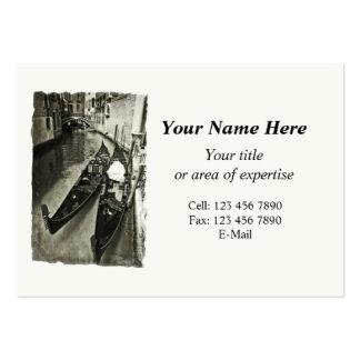 Cartão de visita de Veneza com o calendário 2014