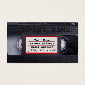 Cartão de visita de VHS