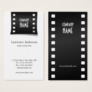 Cartão de visita de Videographer da tira do filme