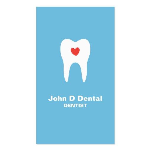 Cartão de visita dental azul do dentista do dente