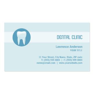 Cartão de visita dental da clínica dentista