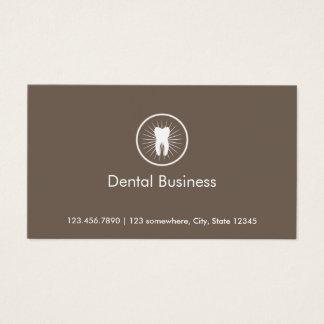 Cartão de visita dental da nomeação do ícone