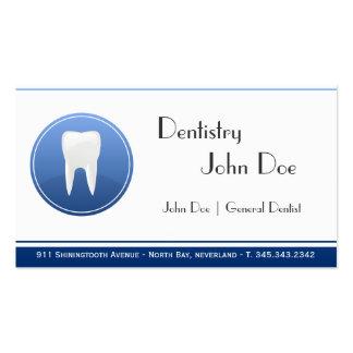 Cartão de visita dental do dentista branco