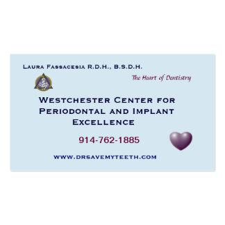 Cartão de visita dental personalizado