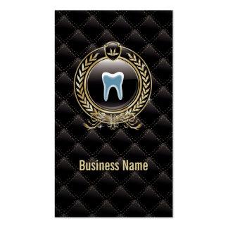Cartão de visita dental preto real da clínica