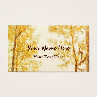 Cartão de visita desvanecido dos álamos tremedores