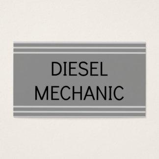 Cartão de visita diesel do mecânico