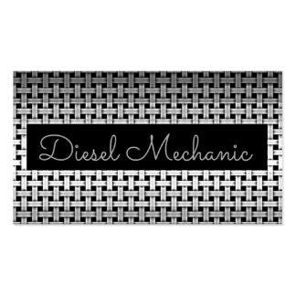 Cartão de visita diesel do mecânico do metal