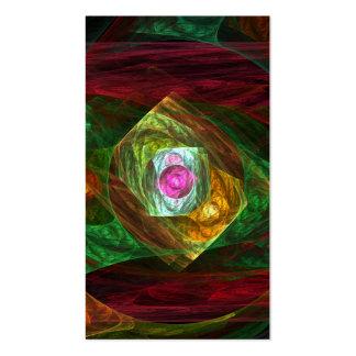 Cartão de visita dinâmico da arte abstracta das