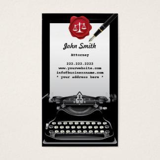 Cartão de visita do advogado da máquina de