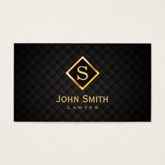 Cartão de visita do advogado do monograma do