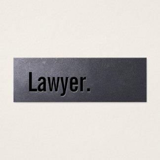 Cartão de visita do advogado do preto de carvão