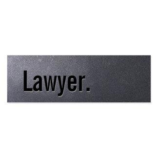 Cartão de visita do advogado do preto de carvão mi