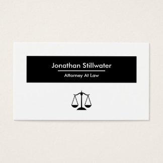 Cartão de visita do advogado - preto e branco