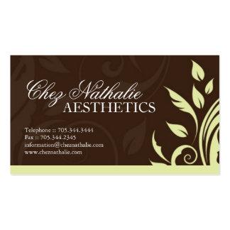 Cartão de visita do Aesthetician