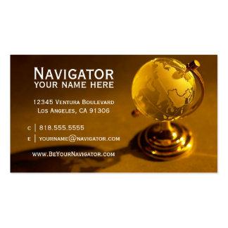 Cartão de visita do agente de viagens