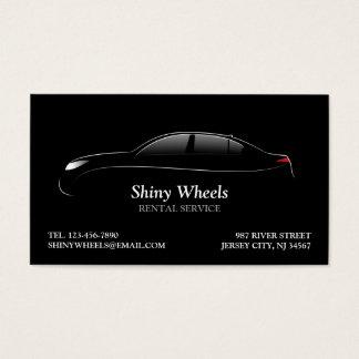 Cartão de visita do aluguer de carros
