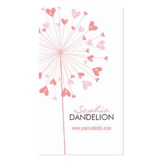 cartão de visita do amor 02 dos dentes-de-leão do