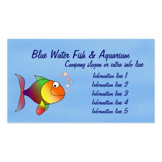 Cartão de visita do aquário dos peixes