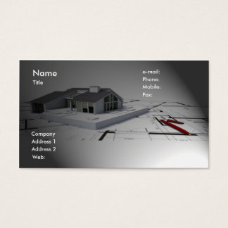 Cartão de visita do arquiteto