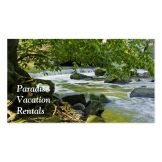 Cartão de visita do arrendamento das férias