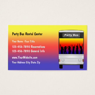 Cartão de visita do arrendamento do ônibus do