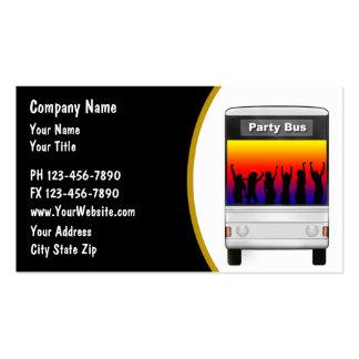 Cartão de visita do arrendamento do ônibus do part