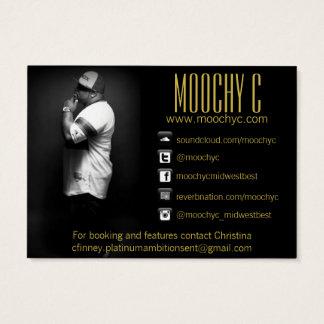 Cartão de visita do artista da música