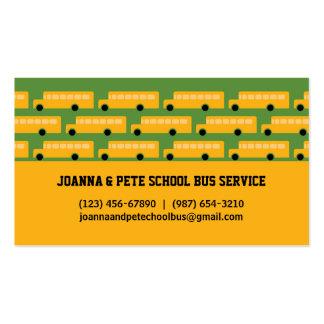Cartão de visita do auto escolar de muitos ônibus