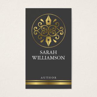 Cartão de visita do autor/escritor
