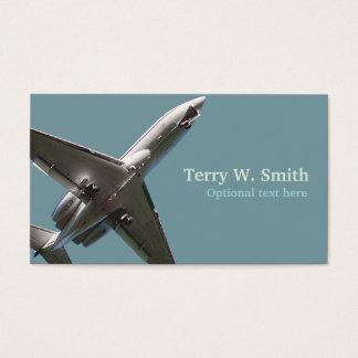 Cartão de visita do avião